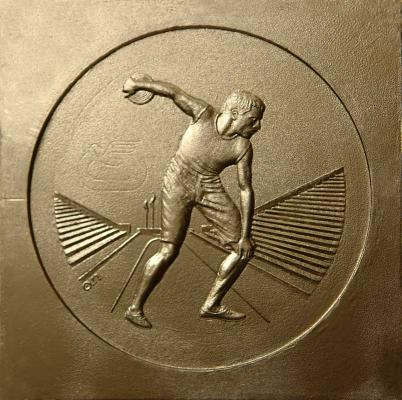 Discus thrower, Coin for the European Championships in Athletics, 1982